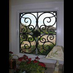 Faux Wrought Iron - Window Treatment