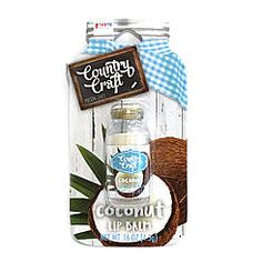 Taste Beauty Country Craft Mason Jars Flavored Lip Balm - Coconut
