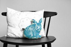 Kissen Hasenbaby türkis // cushion rabbit by ADAMS-BRAUT via dawanda.com