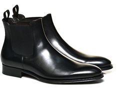 SuitSupply FW2014-2015 black chelsea boot $349
