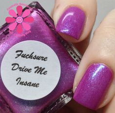 SuperChic Lacquer Fuchsure Drive Me Insane Swatch - Cosmetic Sanctuary; Brand: SuperChic Lacquer, Name: Fuchsure Drive Me Insane, Collection: Gaslighted, Color: Purple, Shade: Medium, Finish: Crème, Type: Shimmer