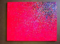 16x20 Paint Splatter Canvas by EASERR on Etsy, $35.00     This would be easy and cheaper to make yourself! And fun!