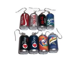 Soda Can Earrings Kitsch Dangle Earrings 8 by KitschBitchJewellery