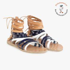 Sandales Galatia tricolores - ANCIENT GREEK SANDALS - Find this product on Bon Marché website - Le Bon Marché Rive Gauche