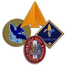 Jumbo BSA Emblems $5.79 each - I'll use these to make my son's Eagle blanket.