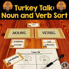 Nouns and Verbs Center Activity: Students will demonstrate their knowledge and mastery of nouns and verbs. This is a center activity every student will love! Third Grade Centers, 2nd Grade Ela, Second Grade, Teacher Boards, Teacher Tools, Teaching Time, Student Teaching, Speech Language Pathology, Speech And Language