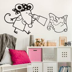Vinilos Infantiles: Pirata #vinilo #pared #piratas #ratita #barcos #bucanero #grumete #habitacion #decoracion #infantil #TeleAdhesivo