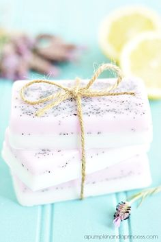 Lavender Lemon Soap Recipe - you can almost smell the beauty through the screen! Kidfolio - the app for parents - kidfol.io