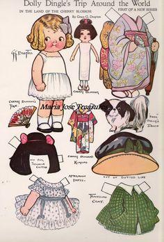 Dolly Dingle in Japan Paper Dolls - Digital Download