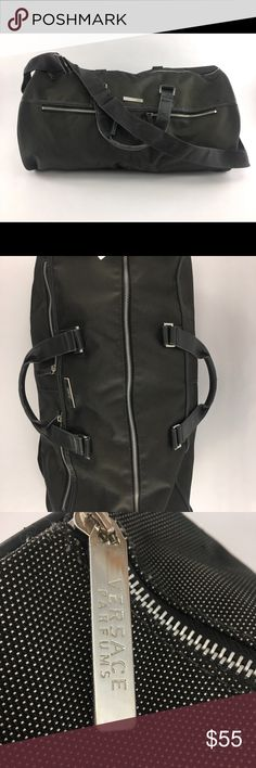 """VERSACE DUFFLE BAG/CARRY ON Gently used Versace Duffle Bag.  Make me an offer, all will be considered!  Dimensions: L 20"""" x H 11"""" x W 10"""". Versace Bags Travel Bags"""