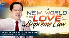 A New World Where Love is the Supreme Law Spiritual Enlightenment, Spirituality, Investiture Ceremony, Divine Revelation, Kingdom Of Heaven, Son Of God, Gods Love, Ministry, Worship