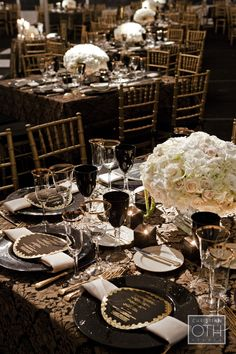 Wedding Planning, Event Design & Production by SWANK Productions at Lyndhurst Castle, www.swankproductions.com, Repinned by #indianweddingsmag #tablescape #black #white #weddings #couples #bride #groom #brideandgroom #summerweddings #aboutindianweddings indianweddingsmag.com