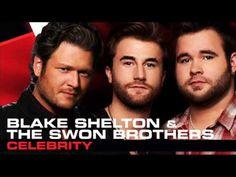 Blake Shelton & The Swon Brothers - Celebrity - Studio Version - The Voice 2013