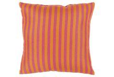Finn 20x20 Outdoor Pillow, Orange/Pink