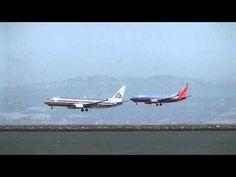 San Francisco Intl Airport (SFO) Runways 28L & 28R parallel arrivals