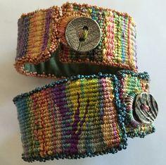 Tapestry bracelets, ultrasuede linings Mirrix