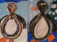 lemniscaat penguin by dutch-colours, via Flickr Winter Crafts For Kids, Winter Kids, Winter Art, Art For Kids, New Year Art, Drawing Lessons For Kids, Polar Animals, Penguin Art, Winter Table