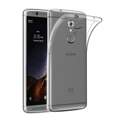 "Coque For ZTE AXON 7 5.5"" Smartphone Case Transparent Slim Qosea Silicone Soft TPU AXON 7 Mini 5.2""Ultra-thin Protective Cover"