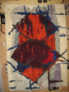 Kuunkivet ryijy - Huuto.net Rya Rug, Wool Rug, Homemade Rugs, Rug Inspiration, Rug Hooking, Carpet Runner, Hand Knotted Rugs, Rugs In Living Room, Floor Rugs