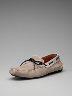 York Suede Driving Moccasins by Fratelli Rossetti on Gilt.com