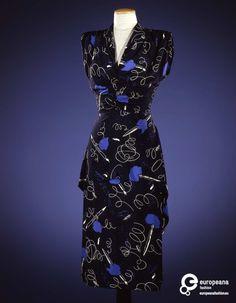 Dress designed by Elsa Schiaparelli, 1946. Courtesy Galleria del Costume di Palazzo Pitti, all rights reserved.