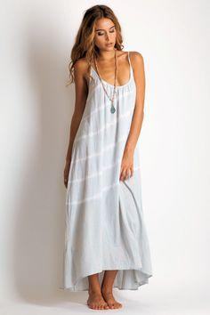 9 Seed Spaghetti strap long #maxi #dress #coverup tie dye    #boho #bohemian #fashion #style