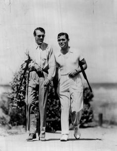 Gary Cooper and Clark Gable
