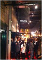 On October 13, 2011, the popular Japanese brand 'moussy' was opened for a limited time in the first North American pop-up store in the Meatpacking District of Manhattan, which is an emerging fashion district.