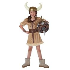 If you have a tom boy in your house, then I bet she'd love this #Barbarian #Girl Child #Costume for #Halloween.