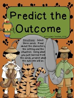 Predict the Outcome - This product contains 20 tasks cards with a ...