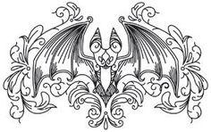 Embroidery Gothic Gala - Bat_image