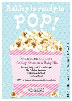 Shop popcorn baby showers and pop baby showers cute baby shower invite ready to pop baby shower invitation printable custom invitations filmwisefo Images