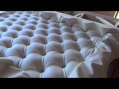 Кровать с  изголовьем  каретная  стяжка . Часть  3 . KAPITONE /