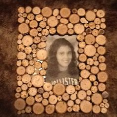 Picture frame made from tree limbs
