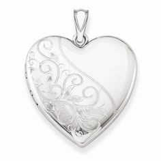 Sterling Silver 24mm Scrolled Heart Family Locket 4 photos $45.87 & FREE Shipping