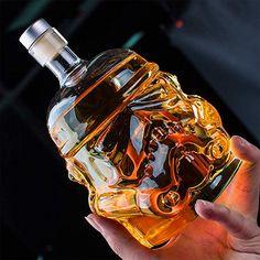 Whiskey Decanter Glasses - Personalized Flask Carafe Decanter Transparent Lead Free Crystal Clear for Brandy,Scotch,Bourbon,Vodka,Liquor - Glass Liquor Bottles, Glass Jug, Carafe, Vodka, Star Wars Wedding, Whiskey Decanter, Whiskey Barrels, Cocktail Glass, Bar Accessories