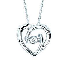 Jewelry Gift Ideas for Mother's Day. A single Diamond shimmers in the center of this freeform Heart Pendant. It is set in Sterling Silver to create a beautiful gift at an affordable price. An 18 inch chain is included. Sterling Necklaces, Sterling Silver Jewelry, Choker Necklaces, Silver Bracelets, Silver Earrings, Thing 1, Diamond Pendant Necklace, Diamond Choker, Diamond Necklaces