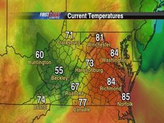Current temps. Sure feels like spring! March 15
