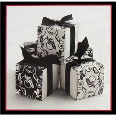 His & Hers Black & White Design Double Sided Favor Boxes Wedding Wishes, Wedding Cards, Wedding Events, Wedding Reception, Weddings, Art Craft Store, Craft Stores, Favor Boxes, Hat Boxes
