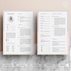 Modern Resume Template & Cover Letter Icon Set by OddBitsStudio Microsoft Word, Modern Resume Template, Resume Templates, Cv Template, Cover Letter Template, Letter Templates, Icon Set, Cv Inspiration, Letter Icon
