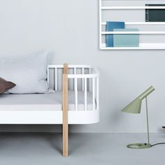 Wood Junior White & Oak Bed by Oliver Furniture