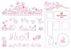 Lente | Pasen, 2017 concept, vormgeving & doodles