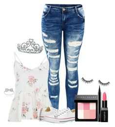 """""""❤️"""" by meow-im-dead-inside ❤ liked on Polyvore featuring Converse, Bobbi Brown Cosmetics, MAC Cosmetics and Smashbox"""