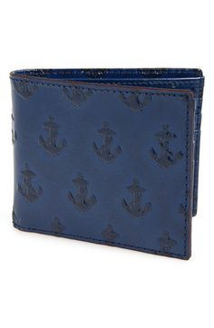 Jack Spade Anchor Embossed Leather Wallet available at #Nordstrom