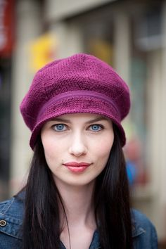 Mulberry Hat pattern by Kristina McGowan free knitting pattern | More Hats With Brims Knitting Patterns at http://intheloopknitting.com/hats-with-brims-knitting-patterns/