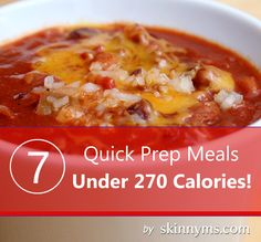 a 'go to menu' that includes 7-QUICK PREP, LOW-CAL and YUMMY meals!