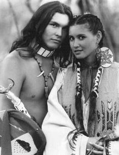 I'm not sure what movie this is from, but Adam Beach and the lady look fabulous!