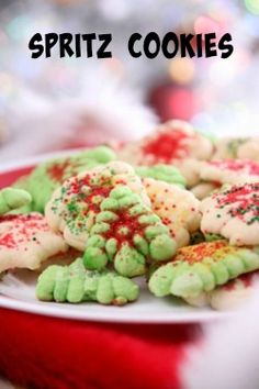Enjoy these spritz butter cookies.  So easy to make, and so delicious.  They are a Christmas Cookie Classic.