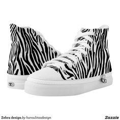 Zebra design printed shoes