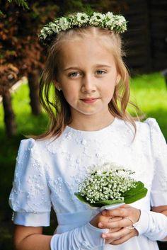 Wianki i bukieciki komunijne  Flower Head Wreath for First Communion | Wianek Komunijne ze swiezych kwiatow